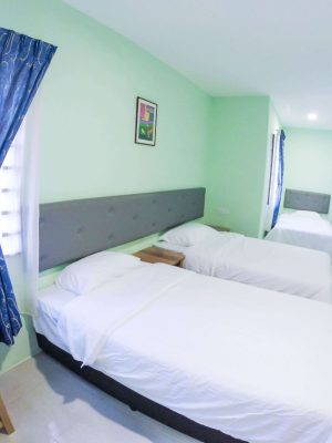 Triple Room - 3 Super Single Bed - View 1